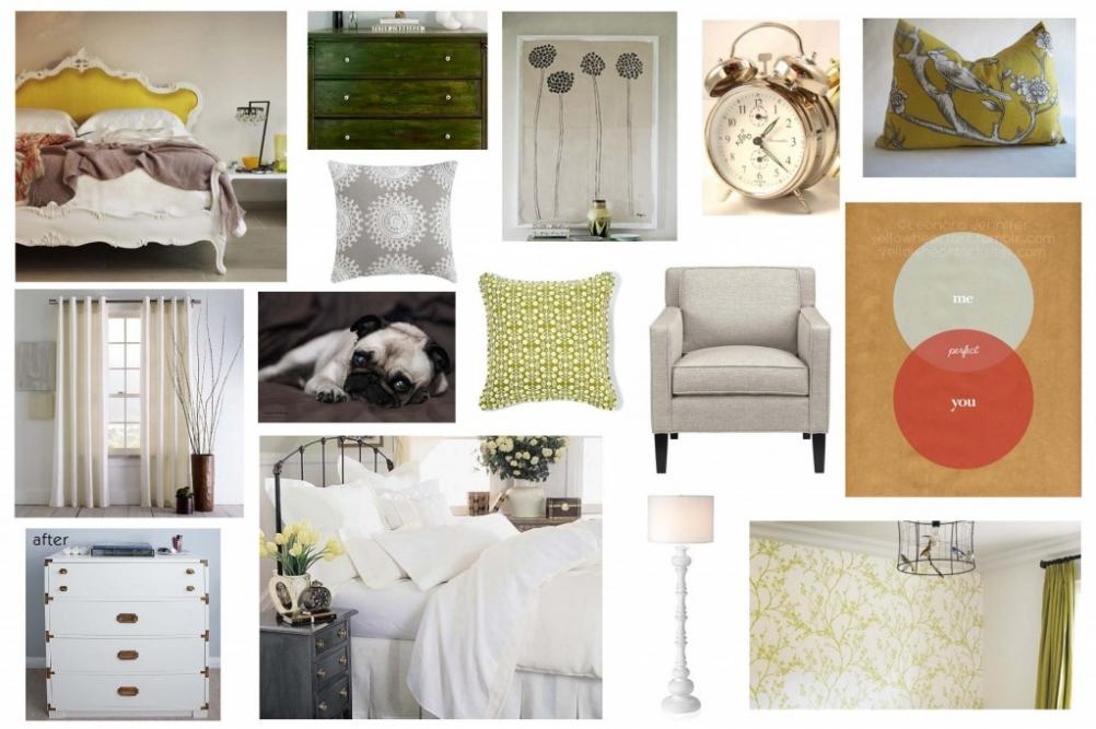 Bedroom Design Board, Olive Oasis