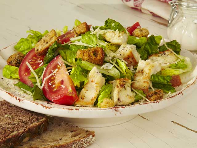 Healthy Recipe Swaps, Caesar Salad, Under 300 calories