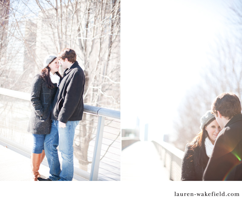 Chicago engagement photography, Kim and Mark, Millenium Pak