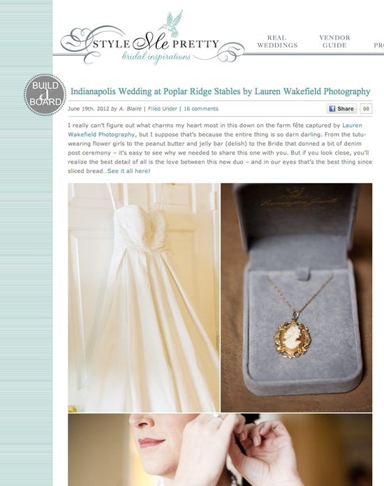 style me pretty, featured wedding, Justin and Jillian