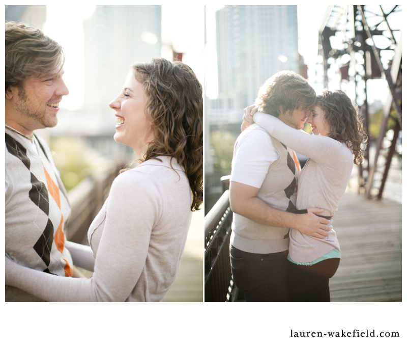 Chicago wedding photographer, chicago wedding photography, chicago engagement photographer, downtown chicago engagement photos, kinzie bridge