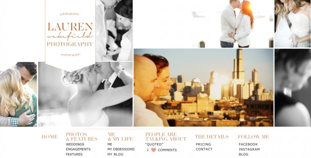 rebranding, lauren wakefield photography website, photography brand, photography website, chicago wedding photographer