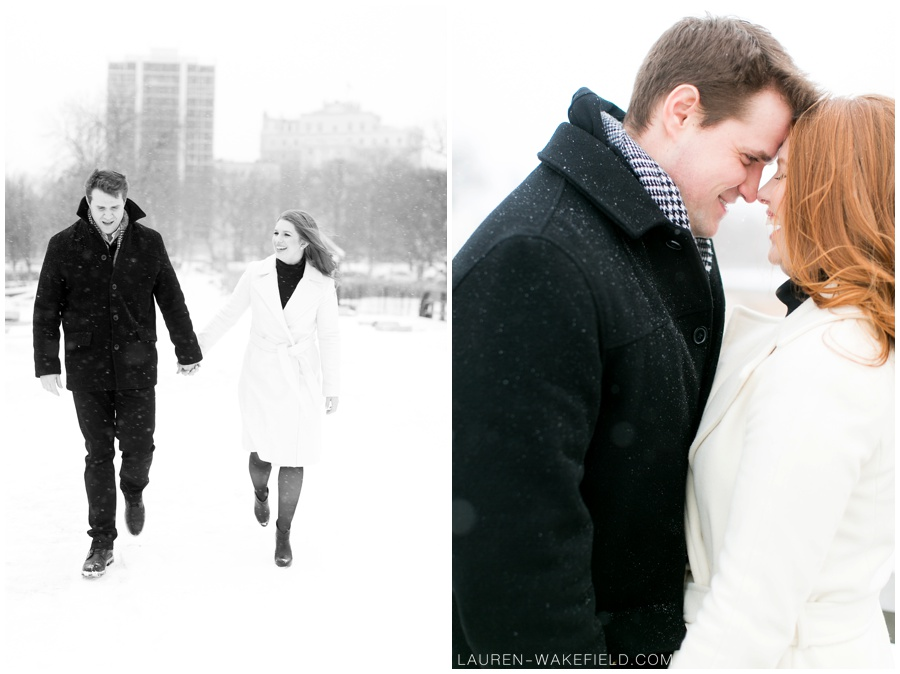 Indianapolis wedding photographer, chicago wedding photographer, snowy engagement session, snowy wedding_0002