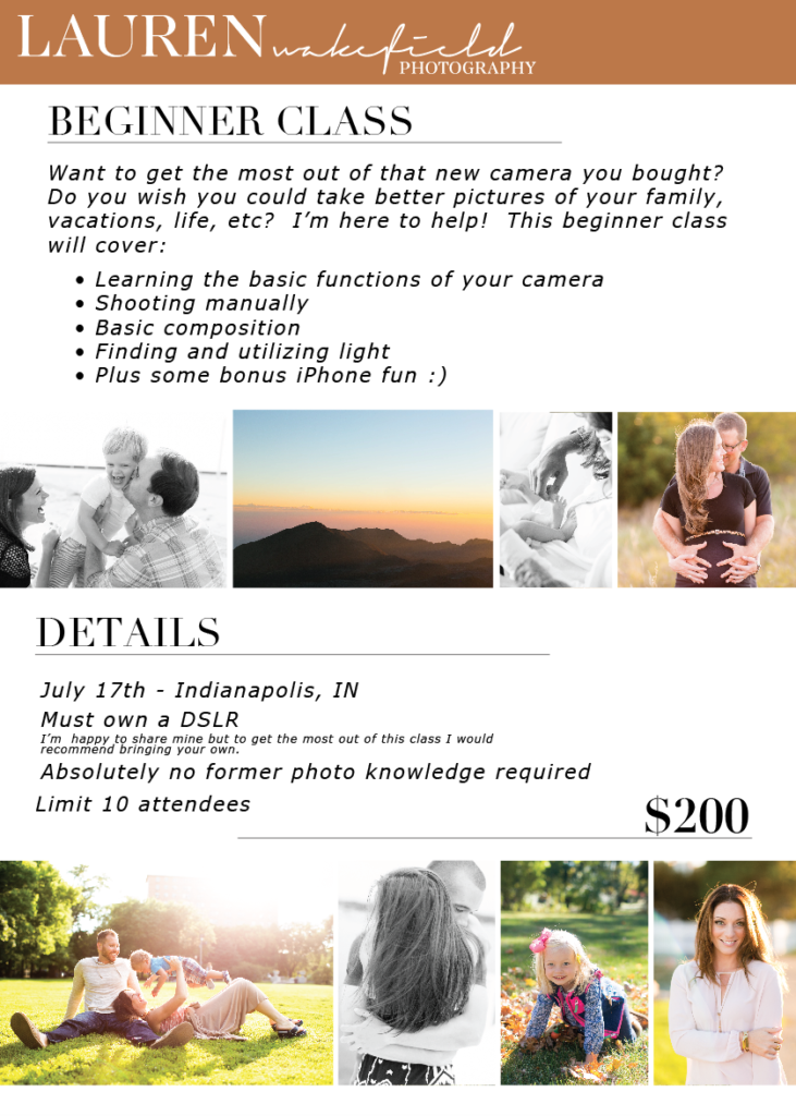 beginner photography class indy, indy photo class, indy beginner photography class, indianapolis photo class, indianapolis wedding photographer